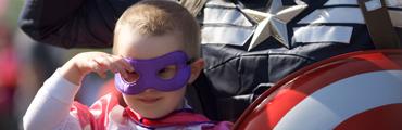 Ellerie with Captain America