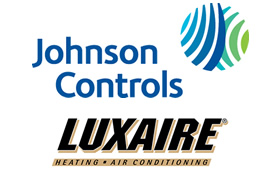 Johnson Controls Luxaire sponsorship logo