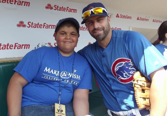 Make-A-Wish brings joy to young Chicago Cubs fans.